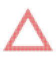 contour triangle halftone icon vector image