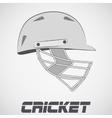 Cricket Helmet sketch vector image vector image