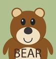 Cute brown bear cartoon flat icon avatar vector image