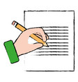 document paper with hand writing vector image vector image