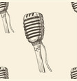 doodle microphone seamless pattern background vector image