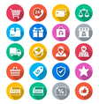 E-commerce flat color icons vector image vector image
