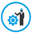 Engineer With Gear Icon vector image vector image