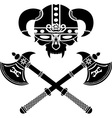 fantasy viking helmet vector image vector image
