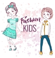 Fashion style kids vector image vector image