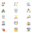 flat icons pack of project management vector image vector image