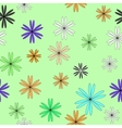 Flower color chaotic seamless pattern vector image vector image