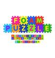 foam puzzle font design vector image vector image