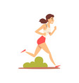 girl running in park young woman jogging vector image vector image