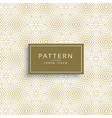 golden texture pattern in line flower style vector image vector image