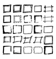 Hand drawn frames collection vector image vector image