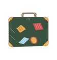 hand drawn travel suitcase doodle icon vector image