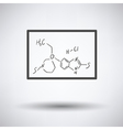 Icon of chemistry formula on classroom blackboard vector image vector image