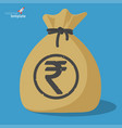 indian rupee icon vector image