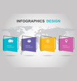 infographic design template with flat banner vector image vector image