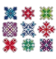 Knitted Christmas Patch vector image vector image