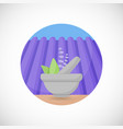 lavender in mortar and pestle flat icon vector image vector image