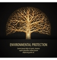 leafless tree ecology nature environment vector image vector image