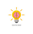 logo brain symbol of creative ideas mind vector image vector image