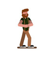 man sketch laughing vector image vector image