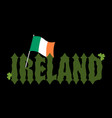 mde in ireland emblem irish flag sign national vector image vector image