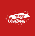 merry christmas text quote lettering vector image vector image