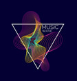 music poster abstract background with a vector image vector image