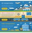 Passenger Transportation Horizontal Banners vector image vector image