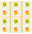 pattern of colorful of gift boxes vector image vector image