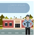 Police department banner7 vector image vector image