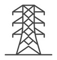 power energy tower icon outline style vector image vector image