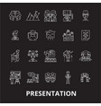 presentation editable line icons set on vector image vector image