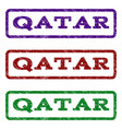 qatar watermark stamp vector image vector image
