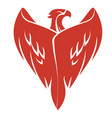 red phoenix vector image