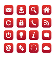 Red web buttons vector image vector image