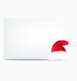 Santa Hat Note vector image vector image