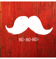santa moustache on red concept vector image vector image