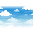 Seamless background with clouds in the sky vector image vector image