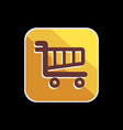 set colorful cart or trolly icon for smart phone vector image vector image