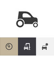 set of 4 editable vehicle icons includes symbols vector image vector image