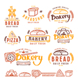 Set of bakery labels and design elements vector image vector image