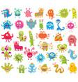 set of funny little monsters big set vector image vector image
