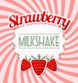 Strawberry milkshake vector image vector image