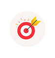 target goal icon marketing targeting strategy vector image