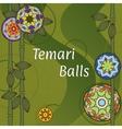 Temari Balls Background vector image