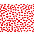texture of small red hearts arranged template vector image vector image