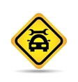 traffic sign concept icon car repair vector image