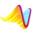 V letter wing logo vector image