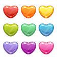 valentines day love symbols cute cartoon vector image
