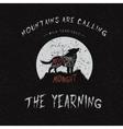 wolf howling at moon vector image vector image